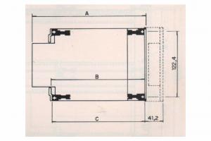 Sub-Bastidor SR-1300 - 3U de Altura