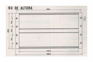 Sub-Bastidor SR-1300 - 6U de Altura
